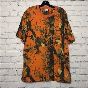 Urban outfitters orange camouflage teeshirt